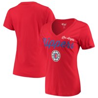 LA Clippers G-III 4Her by Carl Banks Women's Post Season V-Neck Short Sleeve T-Shirt - Red