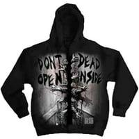The Walking Dead Dead Inside Adult Zip Hoodie