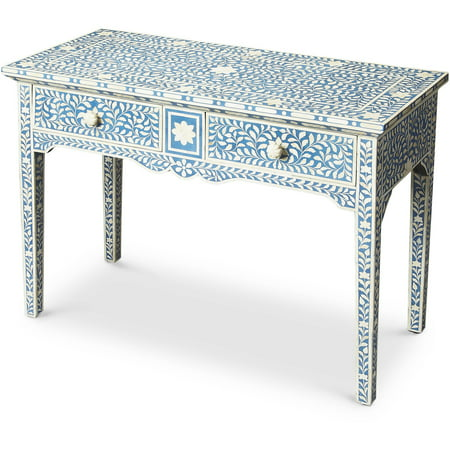 Butler Olivia Blue Bone Inlay Console Table