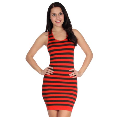 Simplicity Women Striped Summer Mini Tank - Simplicity A-line