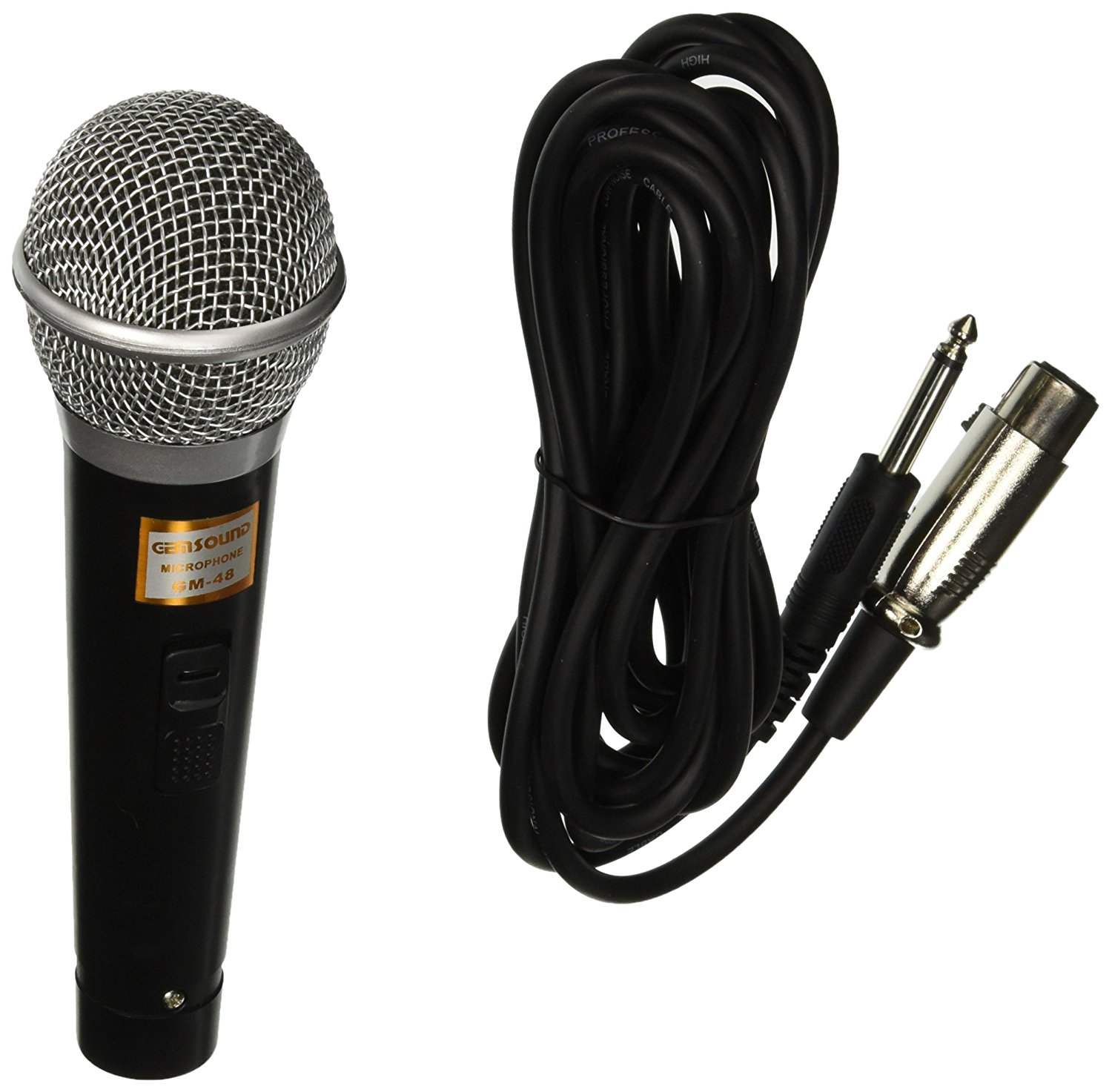 Gem Sound GM48 GEMSOUND Mic with 1/4-Inch PLUG ZINC ALLOY B