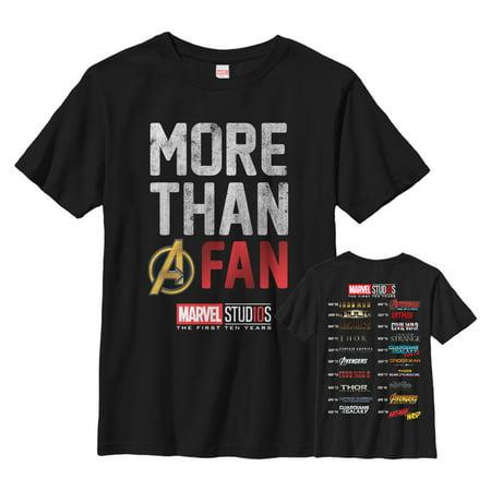 Marvel Boys' 10th Anniversary More Than a Fan T-Shirt - Marvel Boys