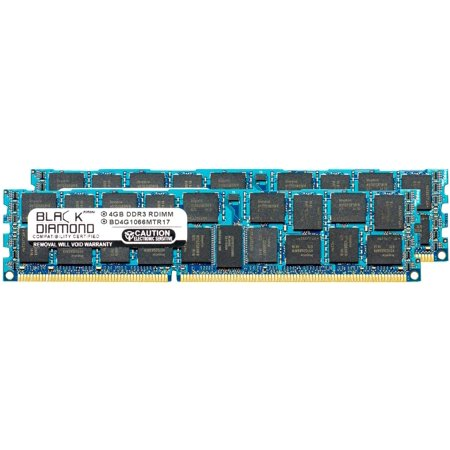 8GB 2X4GB Memory RAM for HP ProLiant Series DL385 G7 (ECC REgistered), DL120 G6, DL120 G6 Entry, DL120 G6 Performance, DL360 G7 Efficiency 240pin PC3-8500 1066MHz DDR3 RDIMM Black Diamond Memory Mod