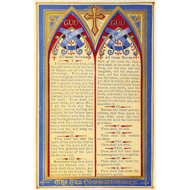 image relating to 10 Commandments Poster Printable called Printable Heaven PPHPDP87872Heavy The Magic formula of Heaven 1874 The
