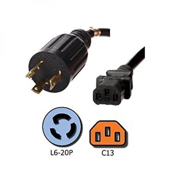 NEMA 6-15P to 2X C13 Y Splitter Cord 15A//250V 14//3 AWG 8 Foot Iron Box # IBX-2726-08