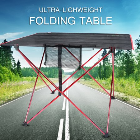 Ultra-Light Aluminum Alloy Folding Table, Picnic Camp Tables, Waterproof Portable Folding Table Desk for Outdoor Traveling, Camping, BBQ](Bbq Table Ideas)