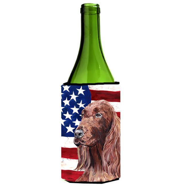 Carolines Treasures SC9510LITERK Irish Setter Usa American Flag Wine Bottle   Hugger - 24 oz. - image 1 de 1