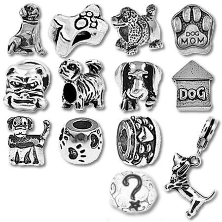 Puppy Dog Beads and Charms for Pandora Charm Bracelets (Pandora Charm Lovebird)