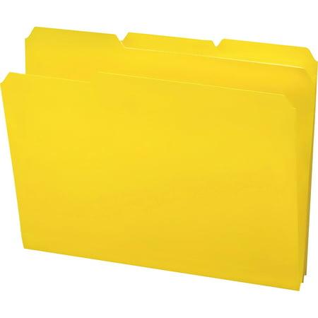 Smead, SMD10504, 1/3-cut Tab Poly File Folders, 24 / Box, Yellow Cut Two Ply End Tab