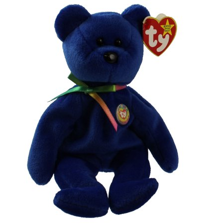 TY Beanie Baby - CLUBBY 1 the Dark Blue Bear (8.5 inch)