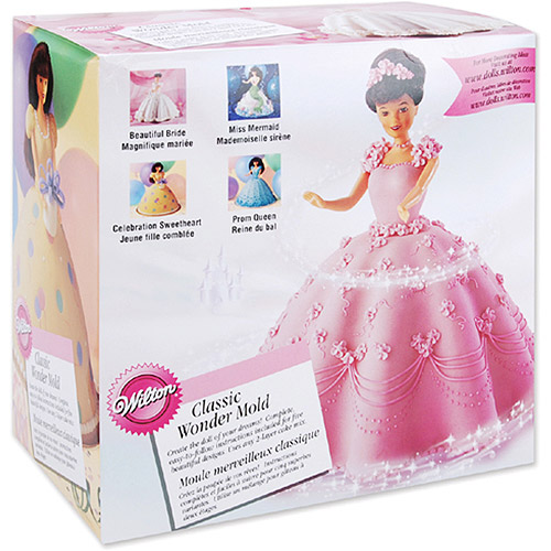 "Wilton 8""x5"" Classic Wonder Mold, Doll Dress 2105-565"