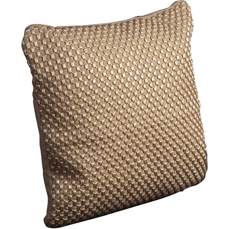 """Nourison Luster Tapis Decorative Pillow, Beige, 20"""" x 20"""""""
