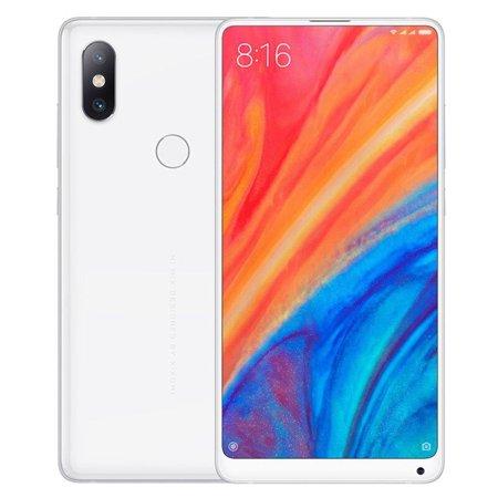 "Xiaomi Mi Mix 2S (64GB, 6GB RAM) 5.99"" FHD+ Display, Snapdragon 845, AI Dual Camera, Global 4G LTE Dual SIM GSM Factory Unlocked (White)"