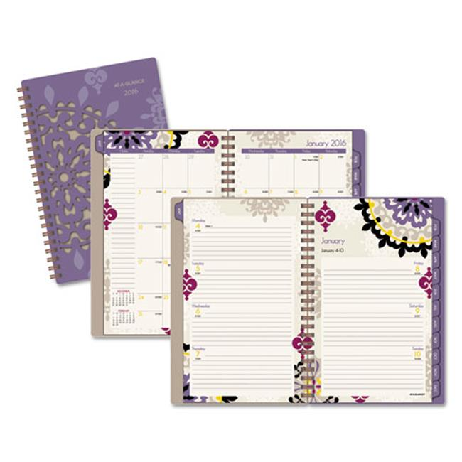 At-A-Glance 122200 Vienna Weekly & Monthly Appointment Book, Purple