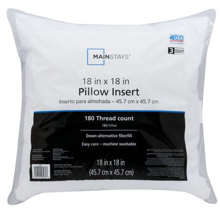 Mainstays Pillow Insert Collection Walmart Simple 16x16 Pillow Insert Walmart