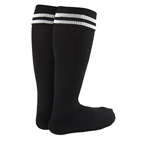 Lian LifeStyle Boy's 1 Pair Knee High Sports Socks for Baseball/Soccer/Lacrosse S Black
