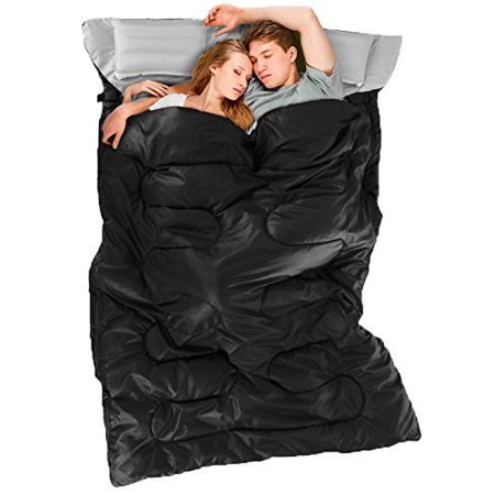 Ohuhu Double Sleeping Bags with 2 Pillows and a Carrying Bag for Camping, Backpacking, Hiking (Pillow Sleeping Bag)