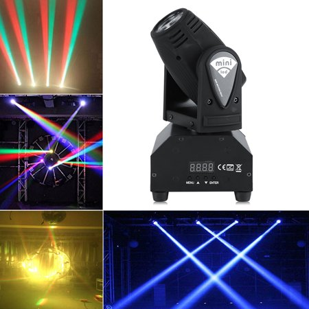 YOSOO Head Moving Stage Light,50W LED RGBW Moving Head Stage Light RGBW DMX512 Rotating Stage Effect Lamp for DJ Disco Club Party Dance Wedding Bar Theater Pub Christmas Lights