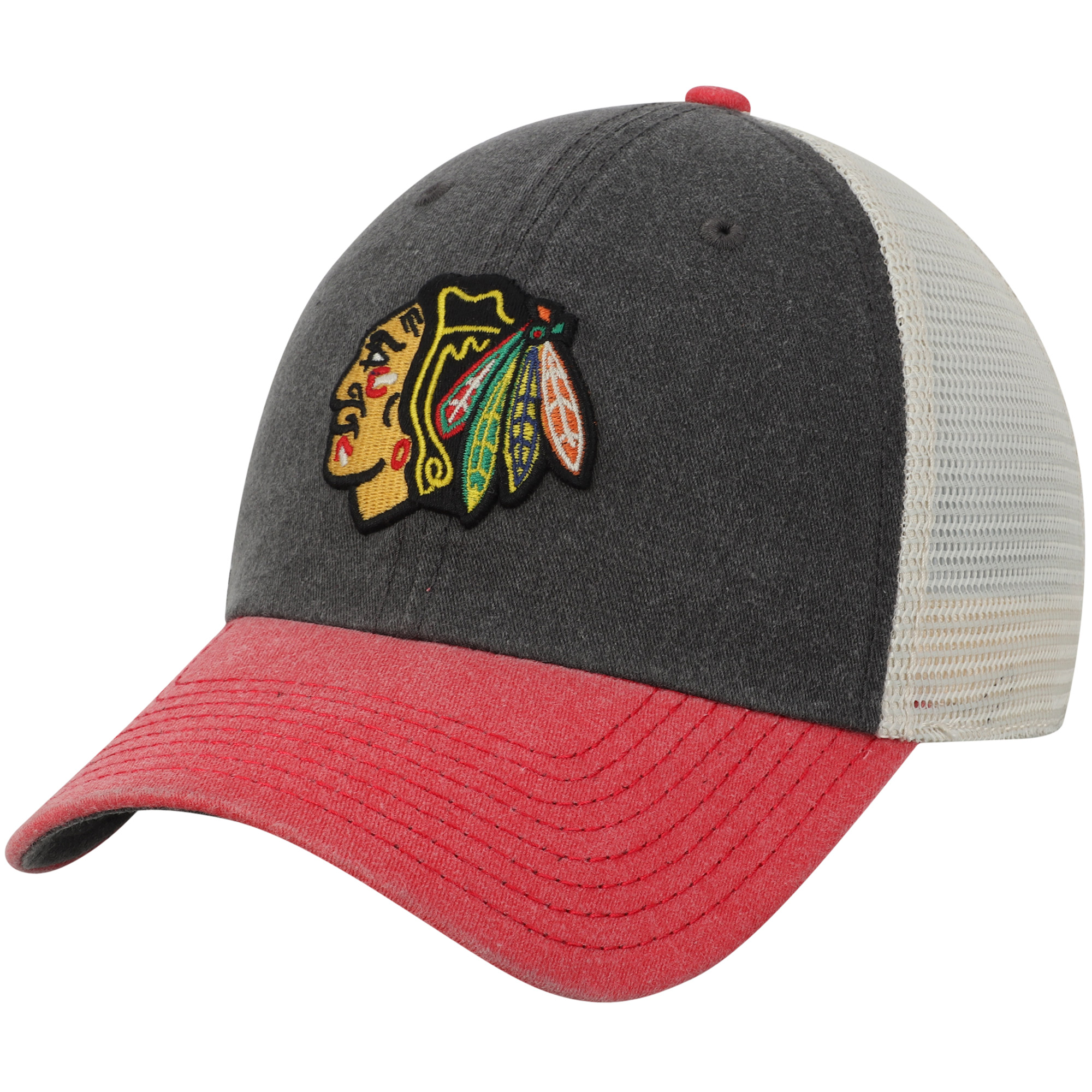 Chicago Blackhawks American Needle Hanover Unstructured Adjustable Hat - Black/Red - OSFA