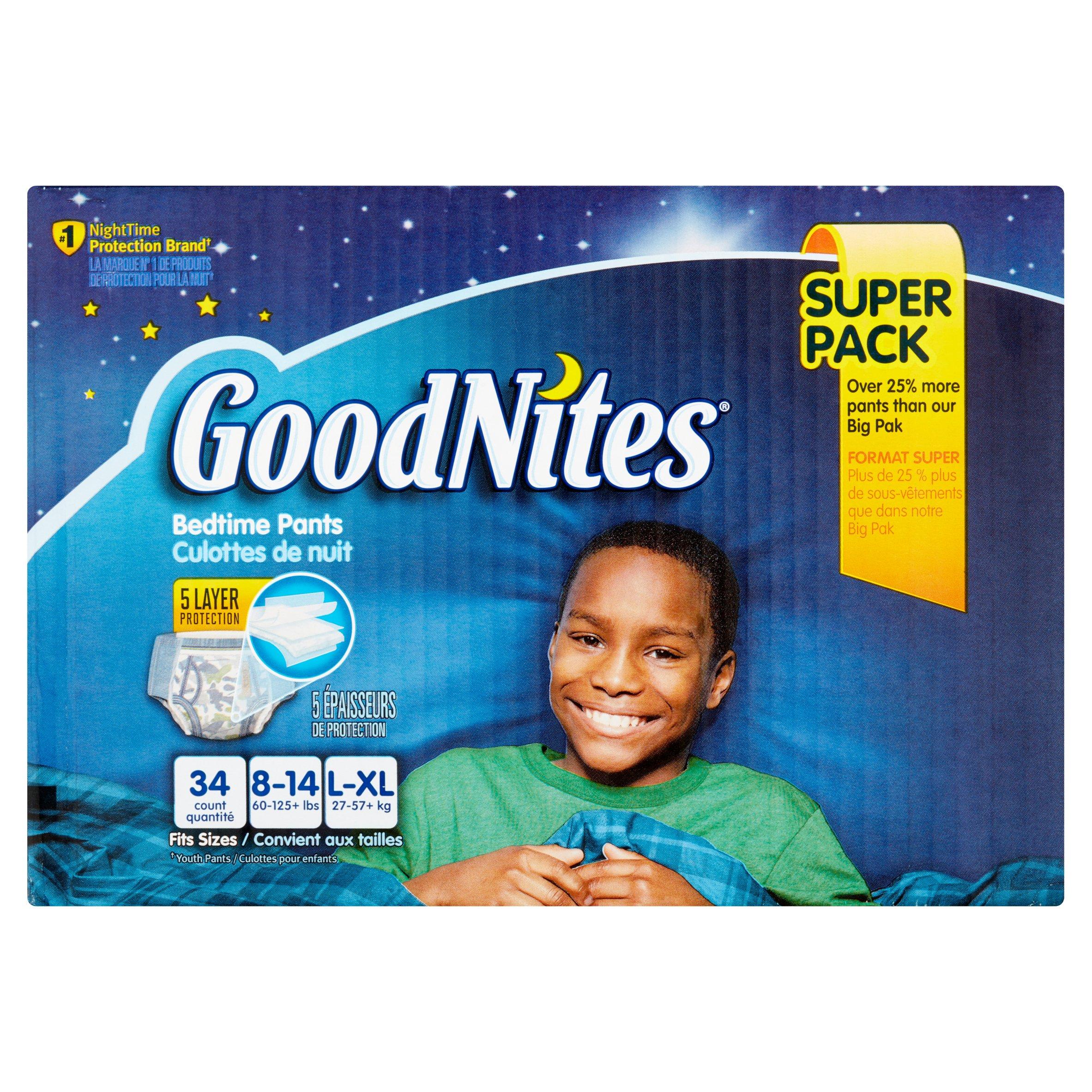 GoodNites Bedtime Pants Super Pack L-XL - 34 CT