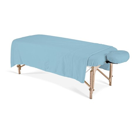 - EARTHLITE Professional Flannel Massage Table Sheets Set - Durable, Soft, Luxurious Comfort, Double-Napped Top Sheet, Fitted Sheet & Crescent Cover