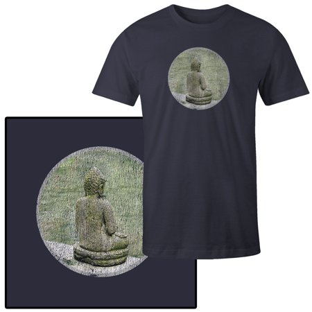 Men's Photograph of the Back of a Buddha Statue T-Shirt