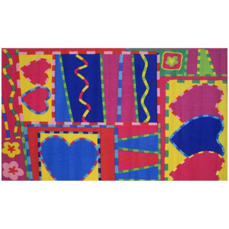Fun Rugs Hearts and Crafts Kids Rugs
