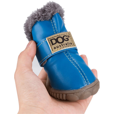 Anyprize Dog Shoes for Small Dogs, Puppy Dog Shoes Paw Protector with Detachable Closure and Anti-Slip Sole for Small and Medium Dogs, PH031BLUE2