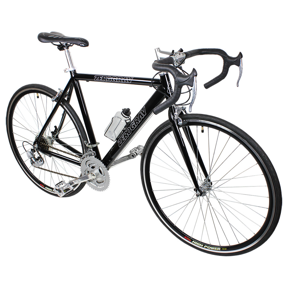 Black 21 Speed Aluminum Road Bike Racing Bicycle 54cm 700c Shimano Parts