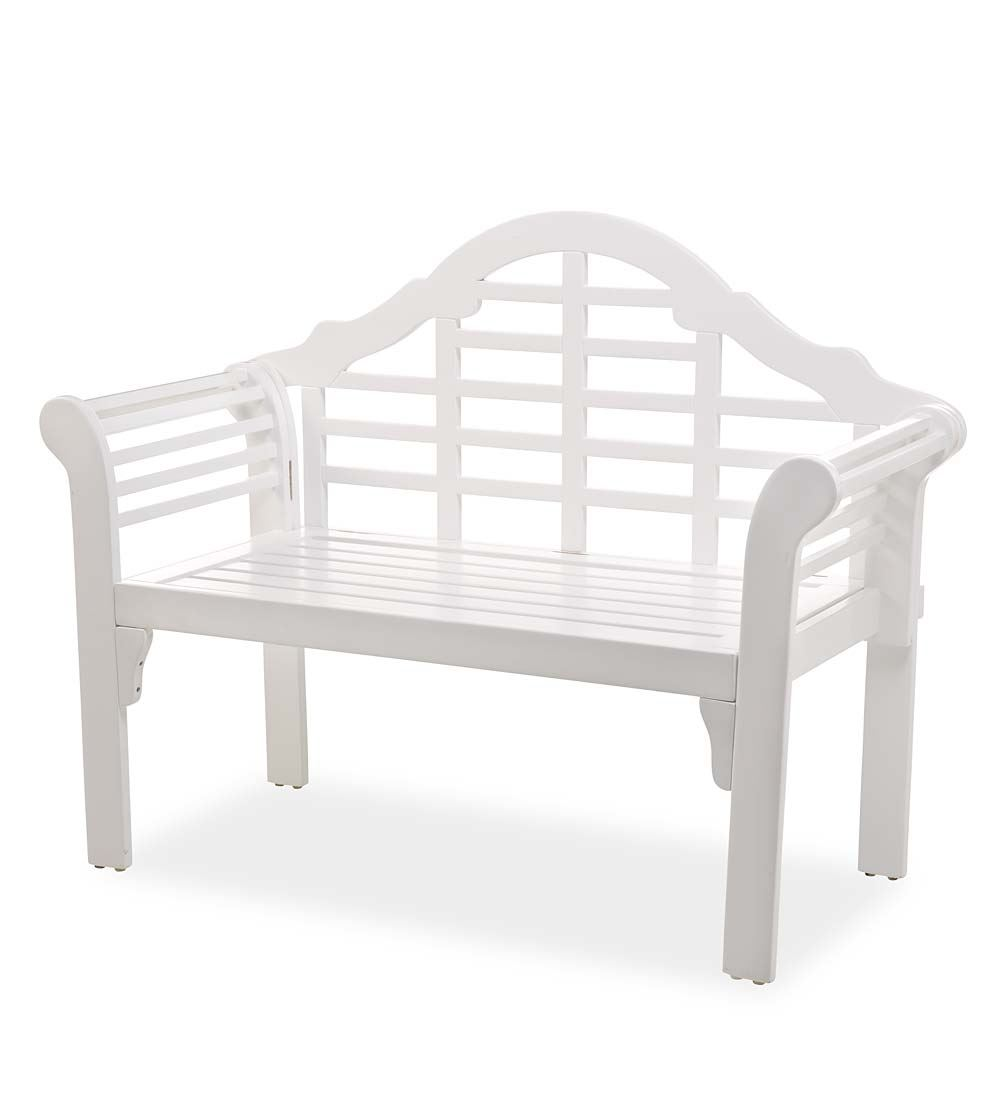 Plow & Hearth Lutyens Wood Garden Bench