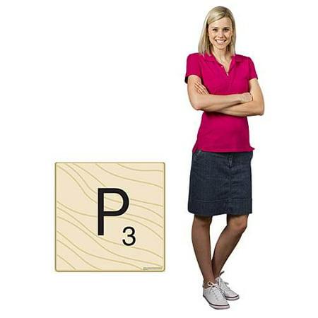 2 FT. 6 IN. HASBRO SCRABBLE LETTER P STANDEE - Cardboard Letters