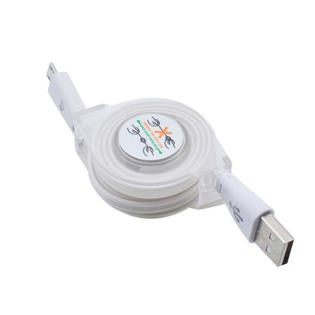 Retractable LED Light Micro USB Cable Luminous Replacment for Android Port Data Cable Phone Charger