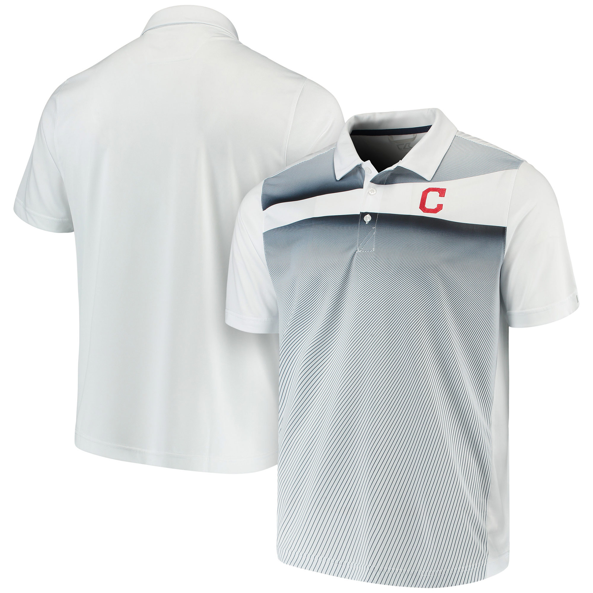 Cleveland Indians Cutter & Buck Ascend Polo - Navy