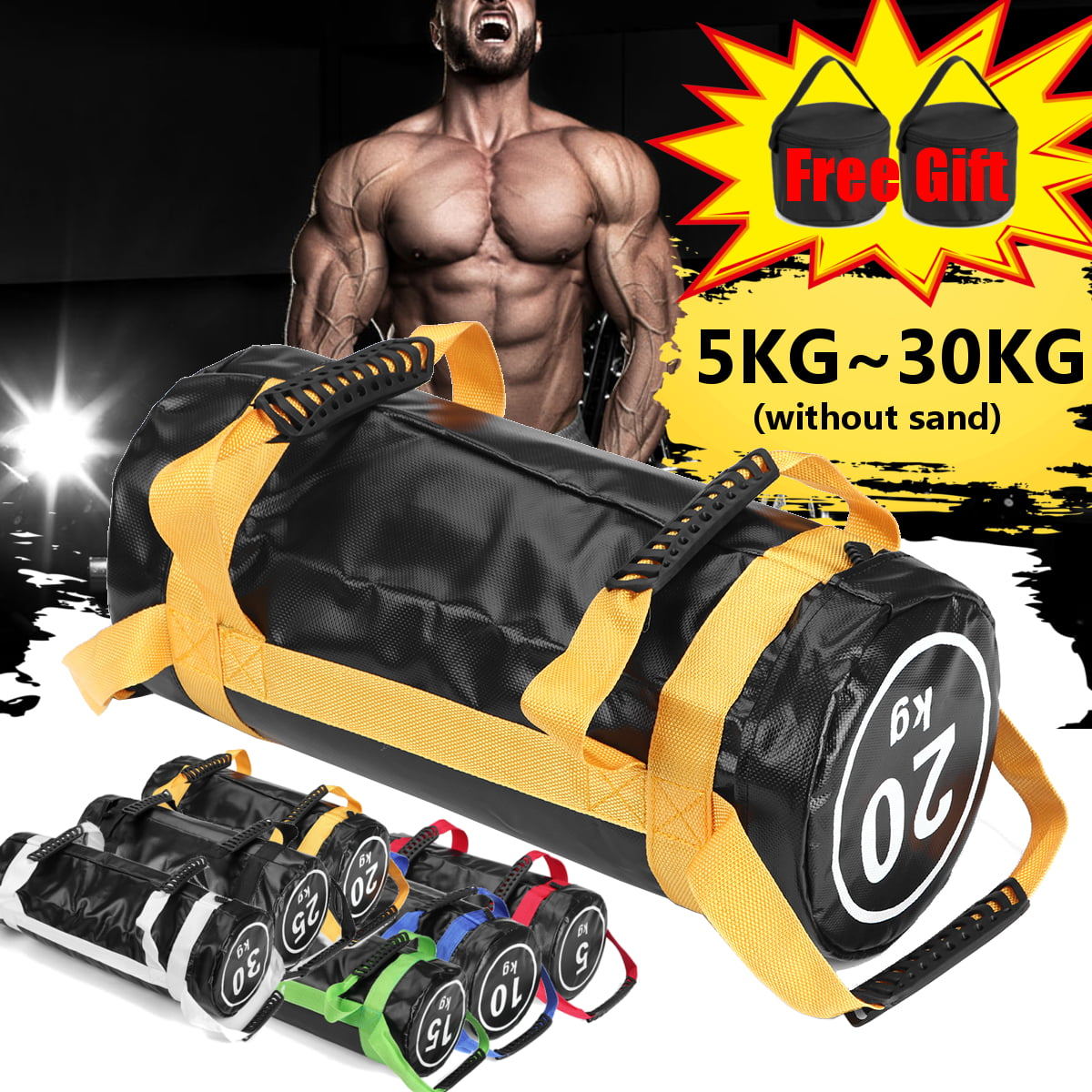 Fitness Weights Sandbag Exercise Workout Weighted Sport for Strength Training
