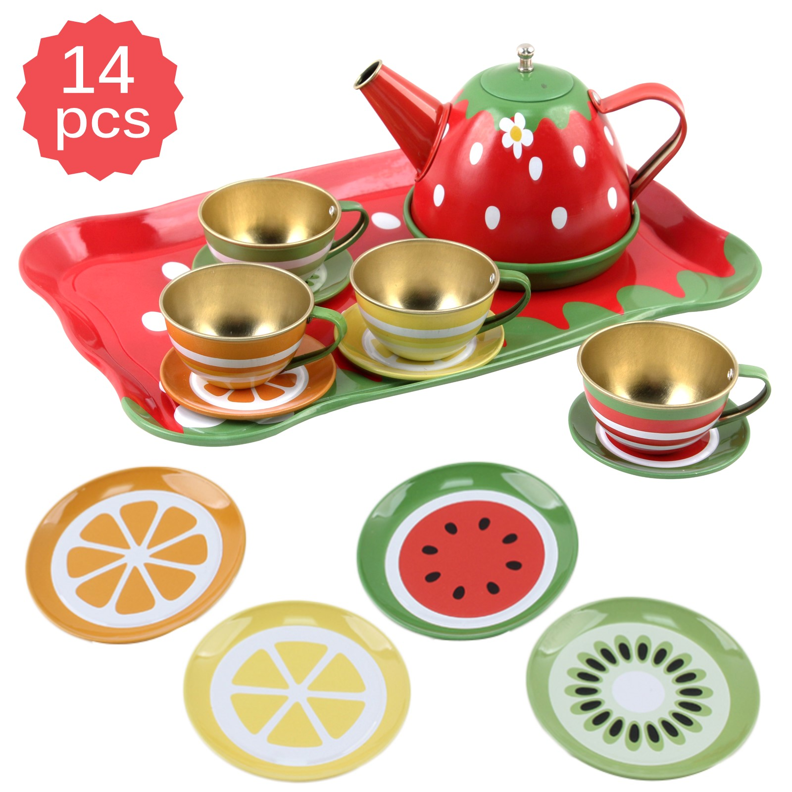 39 Pieces Tea Set for Little Girls Age 3,4,5,6|Pretend Play for Toddlers
