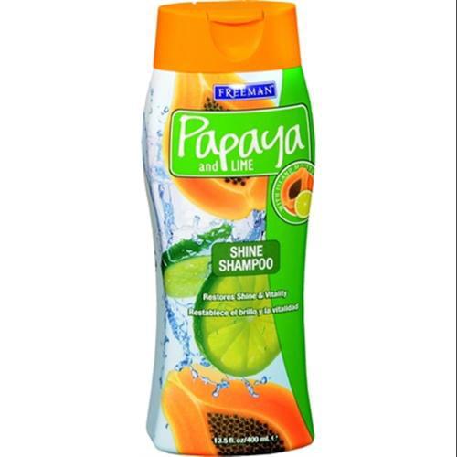 Freeman Papaya and Lime Overboard Shine Shampoo 13.50 oz (Pack of 2)