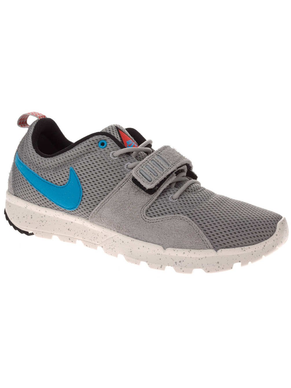 Nike SB Trainerendor Mens Fashion Shoes Base Grey / Sail Black Vivid Blue