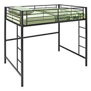 Walker Edison Full Metal Loft Bed - Black