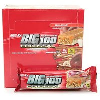 Met Rx Big 100 Colossal Meal Replacement Bars  Crispy Apple Pie   100 Gr  12 Ea