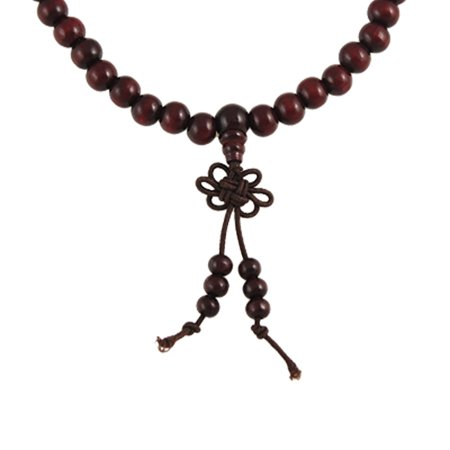 Seed Bead Necklace Patterns (Unique Bargains Mala  Seed Buddhist Prayer Bead Necklace Brown)