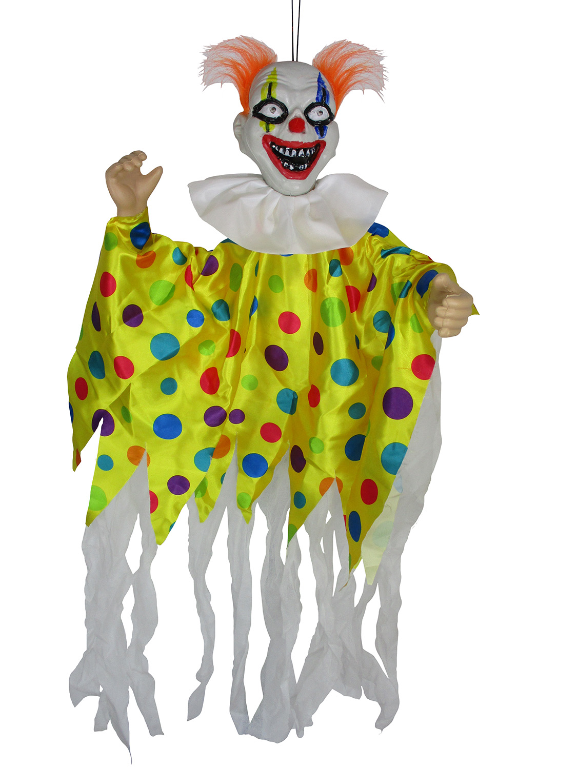 Animated Scary Clown Creepy Halloween Light Up Hanging Decor Haunted House Prop Walmart