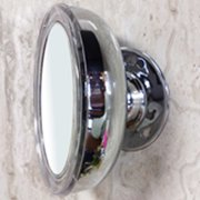 "Metal Round LED Lighted Make up Wall Mounted Mirror, 10X Magnifying Chrome Finish - 5"" x 2"" x 5""H"