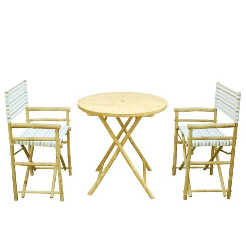 Bay Isle Home Sinta Bamboo 3 Piece Bistro Set by