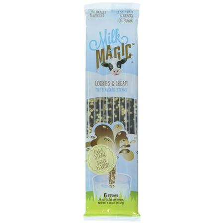 Milk Magic Milk Favoring Straws - Cookies and Cream - 3 Packs (6 Straws Per Pack) - Milk And Cookies Party