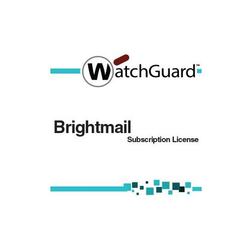 WatchGuard Brightmail Subscription license ( 1 year ) 2500 seats for XCS 1180, 280, 580, 770R, 880 by WatchGuard