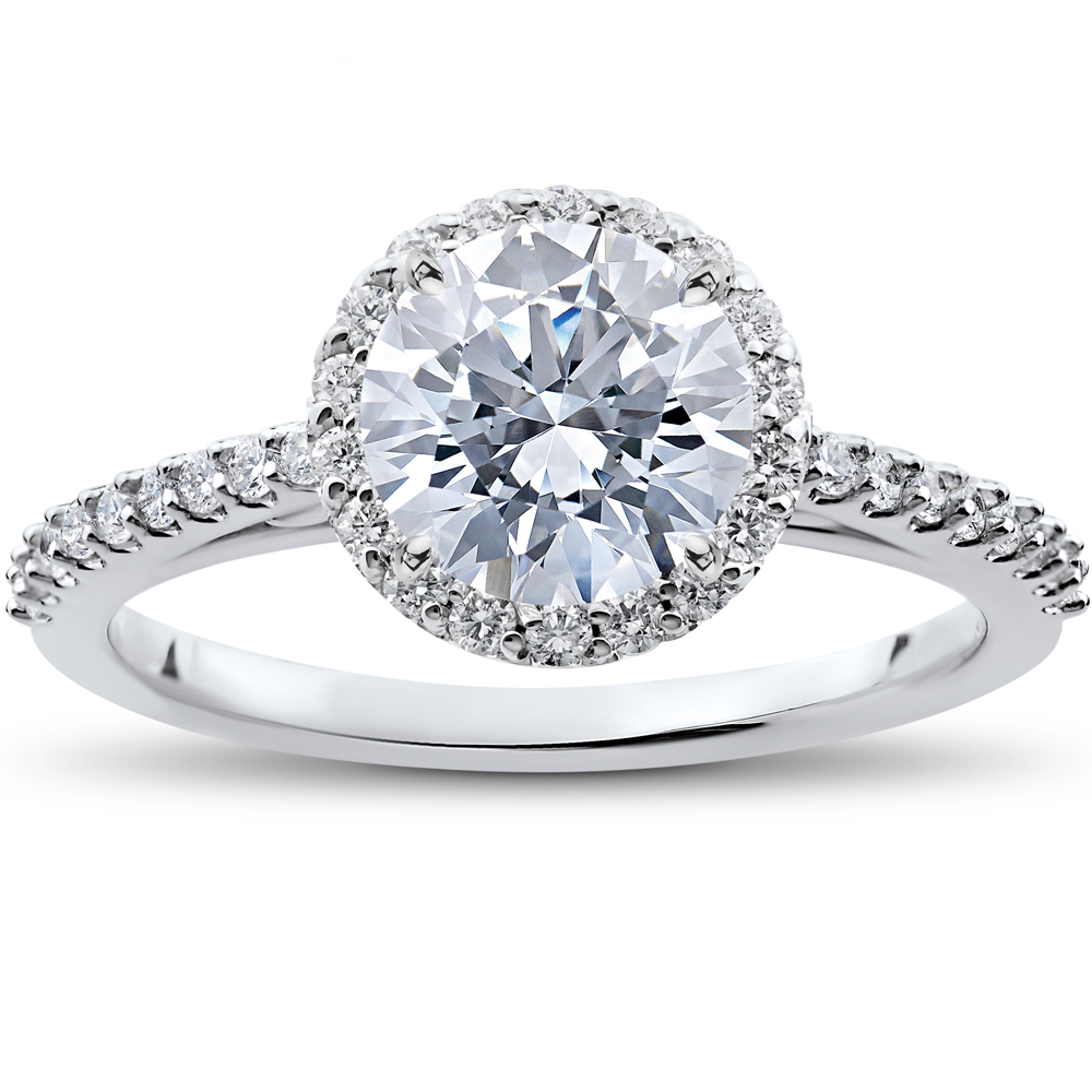 1 3 ct Round Halo Diamond Engagement Ring Setting f9eaed559f