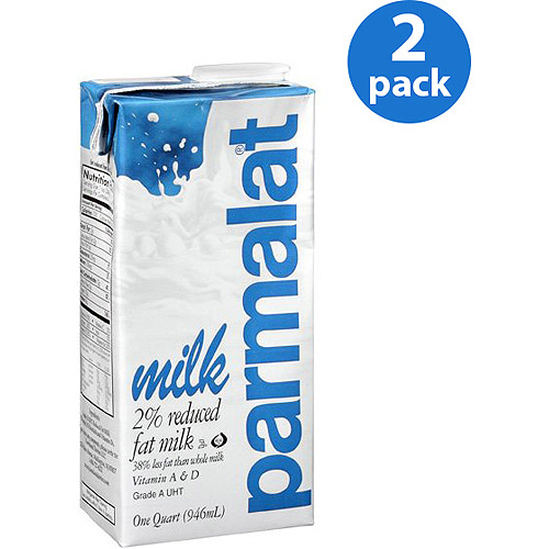 Parmalat 2% Reduced Fat Milk, 1 qt ( Pack of 2)