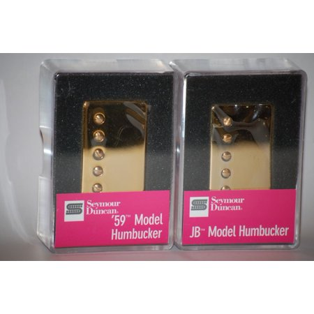- Seymour Duncan SH-4 JB & SH-1n 59 GOLD Humbucker Pickup Set Pickups Guitar - Part Number:11102-13-Gc_11101-01-Gc1C