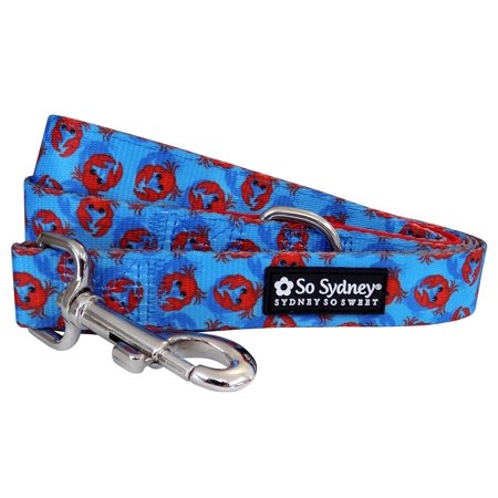 Crab New England - Designer Cute Matching Dog Collar and Leash - County Club Pup Collection