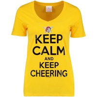Pittsburgh Pirates 5th & Ocean by New Era Women's Keep Calm and Keep Cheering T-Shirt - Gold